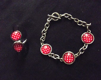 "Set ring and bracelet ""peas 60's"""