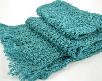 Warm knitted scarf, wool scarf, long scarf