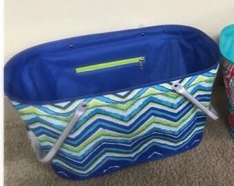 Chevron beach bag | Etsy