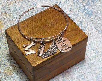 DREAM A LITTLE DREAM - Inspirational Adjustable Bracelet