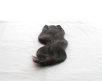 """Curly Indian, 100% natural hair extensions, black color, height 25.4 cm (10 """") / 30,48cm (12"""") / 35,56cm (14 """") / 40,64cm (16""""), 100 gr"""