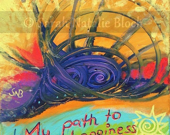 Wall poster * my path to happiness *.