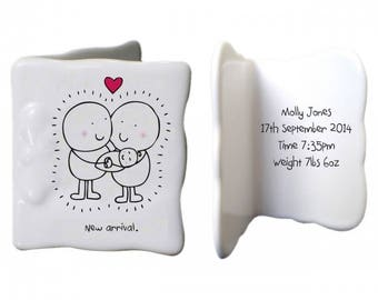Chilli & Bubbles New baby message card