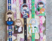 MINI Saint Custom Bookmark with elastic band  - First Holy Communion, Confirmation, Bibles, journals, planners, novels, school books