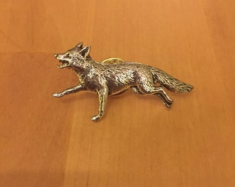 Fox Pewter Pin/ Brooch/ Badge