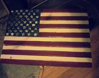 Rustic Distressed American Flag