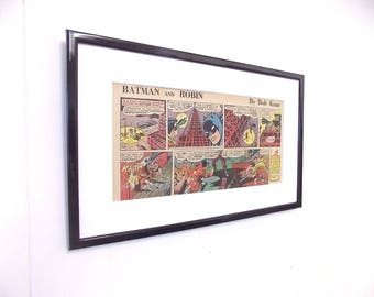 Original Batman and Robin Comic Mounted or Framed Perfect Birthday Gift