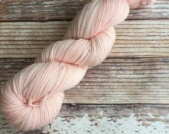 Isabel - Coral - Hand Dyed Yarn - 75/25 Superwash Merino/Nylon