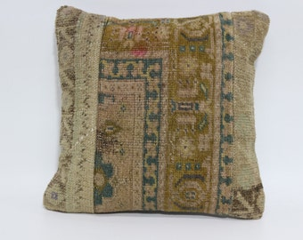 Decorative Pillow 16x16 Handmade Pillow Turkish Pillow Anatolian Pillow Vintage Pillow Sofa Pillow SP4040-1835