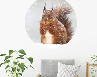 Squirrel Dot Wall Decal