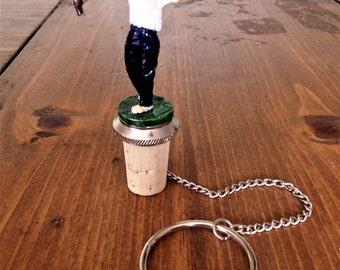 MidCentury Ceramic General Electric Wine/Bottle Golf Player Topper Barware Sport Collectible Sculpted Golfing Stopper Beverage Beer Cork