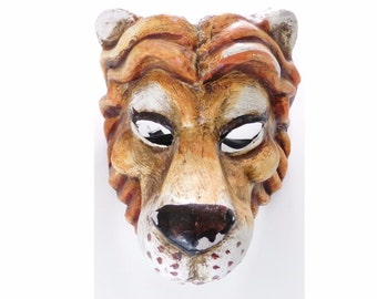 Venetian Mask Lion Made In Italy Acces Si Lucia mas Lion Paper Mache Carnival Masquerade
