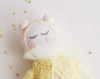 Crochet Toy/ Doll for Girl/ Soft Toy/ Crochet Doll/ Girl Gift/ Gift for Her/ Birthday Gift/ Vanilla Doll/ White Doll