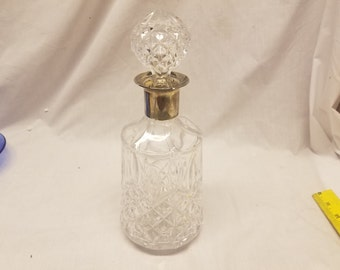 Very fancy pressed glass decanter with ground stopper