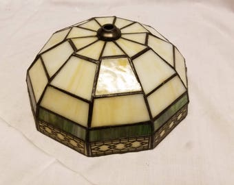 modern stained leaded glass lamp shade 8 14 x 4 inches