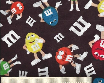 Rare! Licensed Springs Industry Fabrics - M&Ms Candy Characters from 2010 - Quilt Shop Quality - 100% Cotton -  Sold by the Yard