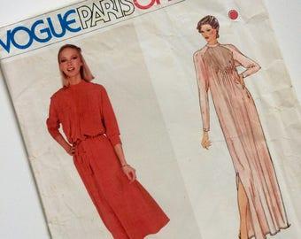 Vintage Vogue Paris Original Dress Pattern by Chloé Size 8 Uncut