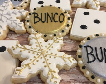 Holiday Bunco Cookies (1 dozen)