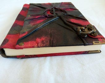 Handmade Leather Diary with Lock Journal, Daybook, Memorybook Gift for Womens-Mens