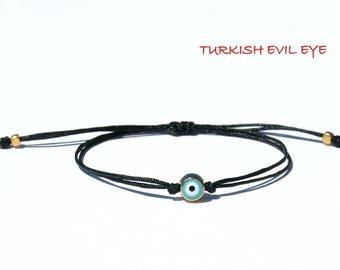 Evil eye bracelet-Evil eye-Evil eye jewelry-Evil eye charm-Turkish evil eye-Evil eye string bracelet-Lucky evil eye-Cord bracelet