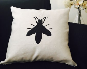 Ready to go/cover embroidered cushion 18x18po