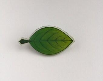 Handmade Leaf Badge