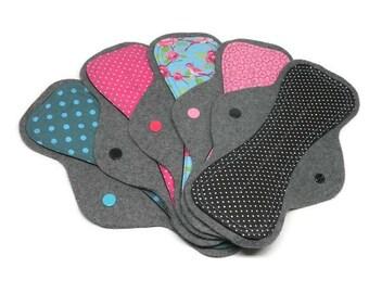 Set of 5 Surprise Print Reusable Cloth Pads | Cloth Menstrual Pads | Cloth Pantyliner | Mama Cloth Pads | Cloth Sanitary Pads | Sale