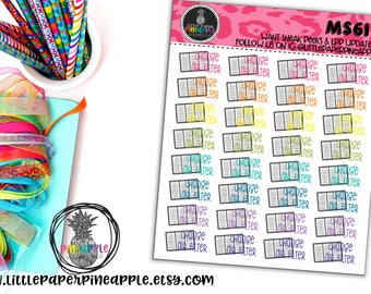 CHANGE AIR FILTER Planner Stickers | Repositionable Matte Stickers | Ms61