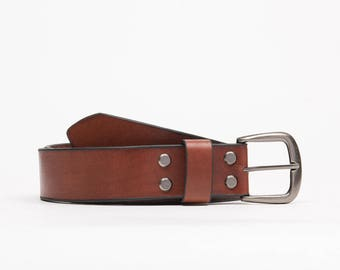 Handcrafted leather belt // Chicago