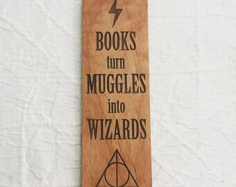 Engraved Quote Bookmark for Reading Lover - Harry Potter