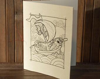 Hand Drawn Greeting Card - Honeybee Explorer
