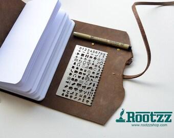 Creative ruler template - planner - midori - traveler's notebook