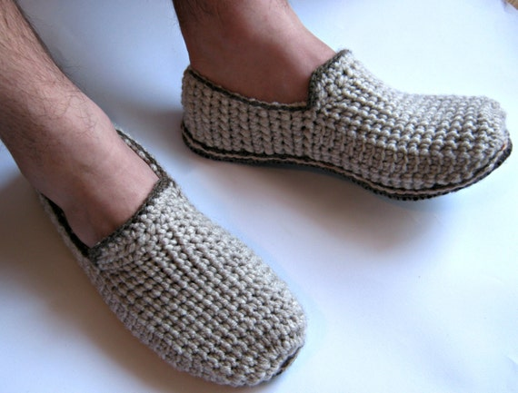 Felt Soles Crochet Slippers Mens Slippers Men Loafers House Hot Sale