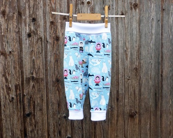 Jersey trousers with wide cuffs, colorful game pants, bloomers Eskimo lining, comfortable rompers, colorful Mitwachsen pants