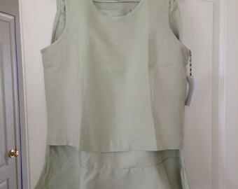 Mint Green Blouse & Skirt Set