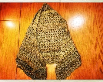Crocheted Green Shawl