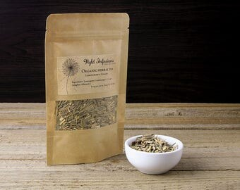 Lemongrass and Ginger Tea / Organic / Loose Leaf / Handblended