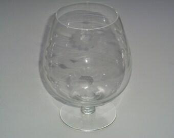 W.J. Hughes Corn Flower Large Brandy Glass