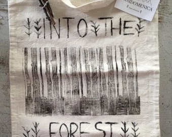 Tote bag, linen bag Into the Forest
