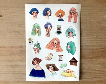 La Dolce Vita Die cut Sticker - The diary sticker series