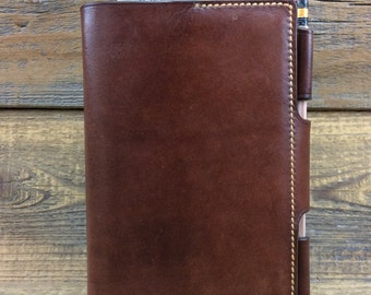 Handmade leather locking notebook field notes journal sketch book #20