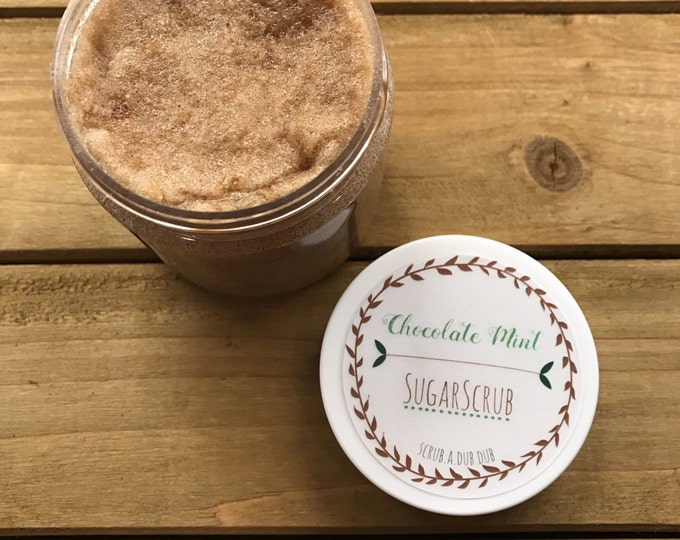 Homemade Chocolate Mint Sugar Scrub: Lake Life Candle Co. & scrub.a.dub.dub. Made in WI