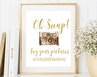Oh Snap Wedding Sign Instagram Wedding Sign Camera Wedding Sign Wedding Hashtag Sign Custom Wedding Sign Wedding receprtion sign