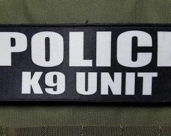 """POLICE K9 UNIT 3x8"""" Tactical Raid Patch Morale S.W.A.T."""