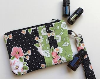 Olive's Flower Market Zipper Pouch | Essential Oil Pouch | Wristlet