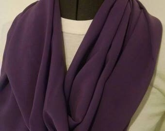 Purple sheer infinity scarf