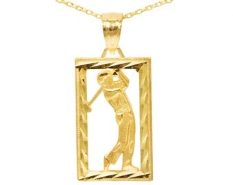 10k Yellow Gold Golf Necklace
