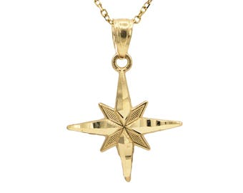 10k Yellow North Star Necklace