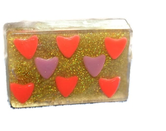 Valentine gift soap Gift soap with hearts Valentine little hearts soap Valentine gift Original gift Gift for her Gift  for girlfriend Gift