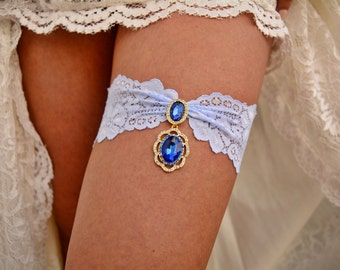 Wedding Garter Set, Bridal Clothing, Light Blue Garter, Lace Garter Set, Gold Garter, Blue Garter Lace, Blue Garter, Something Blue, Wedding